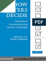 Richard Lau - How Voters Decide