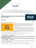 Adiamento de atividades do intercâmbio IFMA_Instituto Politécnico do Porto - Portugal - IFMA _ IFMA