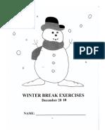 Winter Break Assignment
