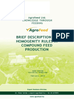 HOMOGENITY RULES IN compound feed