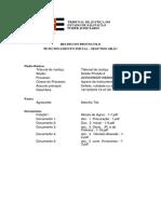 doc. 1 Recibo  De Distribuição de Agravo