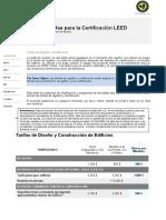 LEED Certification Fees ESP