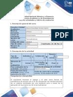 Guía de actividades y rúbrica de evaluación - Fase 3 - Desarrollar y presentar primera fase situación problema