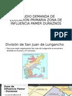 ESTUDIO DEMANDA DE EDUCACIÓN PRIMARIA ZONA DE INFLUENCIA