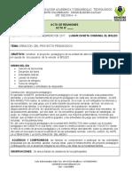 ACTA CONSTRUCCION DEL PROYECTO PEDAGOGICO BOLEO MARTES