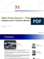 February M&A Flash Report - Software and IT Industry Market Update