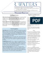 Wisconsin Water Law Fact Sheet - 2007 version.