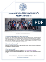 Attorney General's Youth Conference Flyer 2020