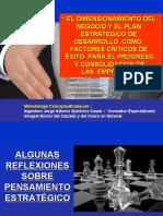 EL DIMENSIONAMIENTO DEL NEGOCIO Y EL PLAN