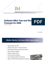 M&A Year-End Review and 2008 Forecast
