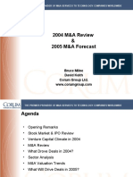 Webinar 011105 Corum Group 2004 M&a Review & 2005 Forecast