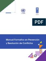 Manual para solución de conflictos.