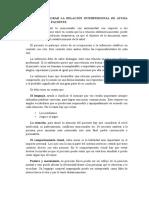 FORMAS DE LOGRAR LA RELACIÓN INTERPERSONAL DE AYUDA ENFERMERA