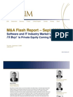 I'll Buy! Is Private Equity Coming Back? - September M&A Flash Report