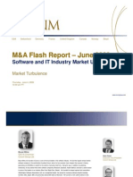 Market Turbulence - June Software/IT M&A Flash Report