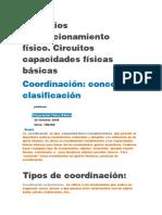 Ejercicios COORDINACION