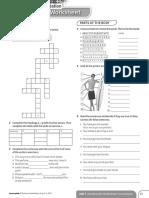 Achievers B1 Vocabulary Worksheet Consolidation Unit 1