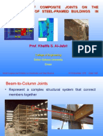 The Role of Composite Joints on the Performance of Steel-framed Buildings in Fire