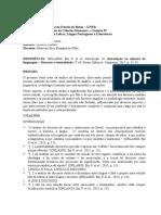 Fichamento (H). ORLANDI, Eni P. et al. Introdução. In Introdução às ciências da linguagem – Discurso e textualidade..docx