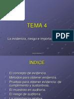 Tema 4 La Evidencia Riesgo e Import an CIA Relativa