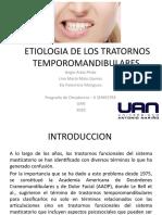ETIOLOGIA DE LOS TRATORNOS TEMPOROMANDIBULARES 2020 correciones 2