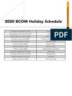 2020-BCOM-Holiday-Schedule