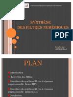 Projet Synthèse des filtres numériques