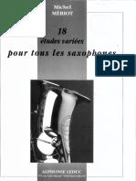 18 etudes varis pour tous le saxo M Meriot