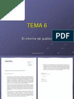 Tema 6 El informe de auditoría