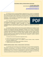 Diseño instruccional y Recursos pedagógicos on line