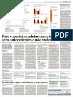 (Notícia) País superlota cadeias com réus sem antecedentes e não violentos.pdf