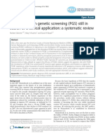 Preimplantation genetic screening (PGS) still in search of a clinical application- a systematic review
