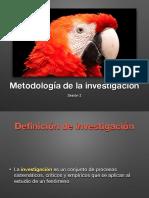 Sesión 2. Metodología de la investigación