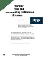 Denborough, David.  A Framework for receiving and documenting testimonies of trauma.pdf