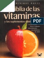 la biblia de las vitaminas