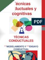 Técnicas conductuales y cognitivas