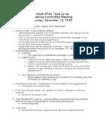 2010-12-13 Steering Committee Meeting Minutes