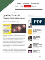 Andrés García Barros - Frente al Coronavirus, educarnos.pdf