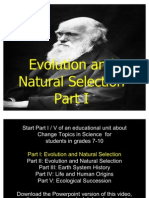 Evolution Part I/II Unit Powerpoint for Educators - Download unit at www. science powerpoint .com