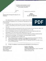 US (Szymoniak) v American Doc 156 Motion Pro Hac Jay Eisenhofer, November 5,2013