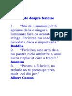 FERICIRE-101 citate despre Fericire
