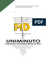 IDENTIFICACION DE LAS ACTITUDES INSTITUCIÓN EDUCATIVA CDR DEL MUNICIPIO DE SAN JOSE DEL GUAVIARE