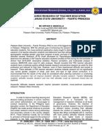 ATTITUDES TOWARDS RESEARCH OF TEACHER EDUCATION STUDENTS AT PALAWAN STATE UNIVERSITY – PUERTO PRINCESA