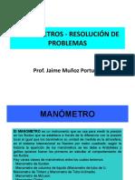 Problemas de Manómetros - Resolución ejercicios
