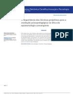 A importância das técnicas projetivas para a avaliação psicopedagógica na ótica da epistemologia convergente