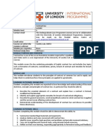 2. Contract Law- Module Descriptor