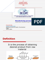 ppt on manufacturing process