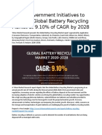 GLOBAL BATTERY RECYCLING MARKET 2020-2028  MARKET BY APPLICATION, CHEMISTRY AND GEOGRAPHY | FORECAST 2020-2028