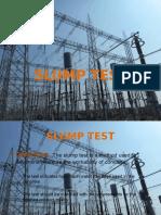 Slump Test PPT for Substation Works