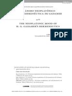 El ánimo neoplatónico de la hermenéutica de Gadamer.pdf